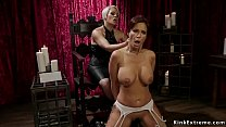 Milf in suspension big ass spanked