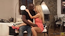 BLACK4K. Blonde by the name of Nesty makes love to the black boyfriend