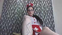 Kinky Nurse Calms your Anxiety with Foot Worshi...