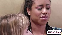 Ivy Wolfe takes control of her ebony gf and facesitting her