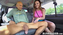 Tiny Teen Destroyed By Big Dicked Mature Guy In The Van