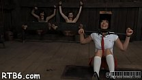 Tied up beauty receives amoral pleasuring for her pussy pornhub video