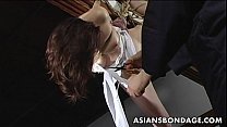 Image: Lovely Japanese cutie gets bound, suspended and tormented
