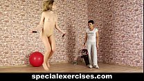 A lesson of obedience for hot blonde teen