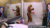Washing Step Dad Cumshot Off Of My Ass, Cute Black Step Daughter Msnovember Shower After Father Ejaculate Load Her Her Ass, Undressing Huge Natural Areolas And Saggy Udders 4k by Sheisnovember صورة