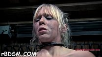 Restrained beauty made to submit to boy horny demands
