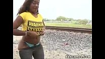 ebony moaning as hunk pounds her doggystyle