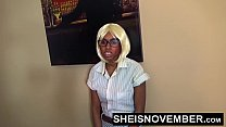 5016 HD Black Secretary Gets Ass Spanking From Kinky BDSM Fetish Boss And Booty Hole Close-up For Punishment Sheisnovember preview