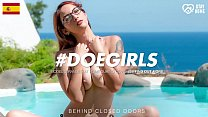 DOEGIRLS - #Margout Darko - Big Tits Spanish Teen Solo Play By The Pool With Thick DildoToy