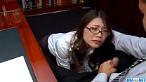 Blowjob at work along naughty Japanese Ibuki thumb