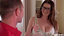 Free download video bokep Ultra Hot & Busty Secretary in Glasses Rides a Hard Dick