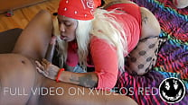 FEMALE GANG MEMBER GIVES POPPING BLOWJOB WITH A NASTY FACIAL...... FEATURING HAZELNUTXXX