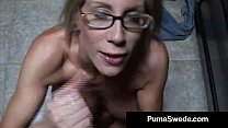 Euro Porn Star Puma Swede Gets Milky Glasses After Blow Job! thumbnail