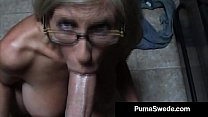 Euro Porn Star Puma Swede Gets Milky Glasses Af...