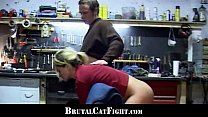 https free porn ⁃ Catfight and fuck at the workshop thumbnail
