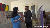 8206 Busty Muslim negotiates with sex preview