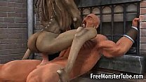 Hot 3D cartoon monster babe getting fucked hard thumb