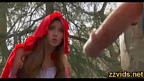 Gorgeous teen Nikki Rhodes outdoor fuck