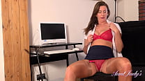 AuntJudys - Tall 45yr-old British MILF Lara Latex at the Office