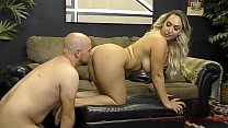 Booty Queen Nina Kayy Makes Her Wimp Boyfriend Eat Ass