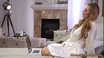 Classy milf pussylicking with stepdaughter