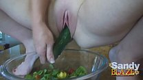 Wife Squirts All Over Salad