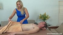 Blonde Milf With Big Tits Strokes A Big Cock