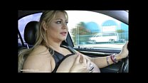 Sexy BBW Legend Samantha 38G Flashes Fans As She Drives