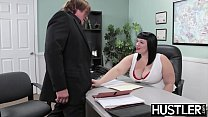 Angelic BBW Alexxis Allure fed cum after big co...