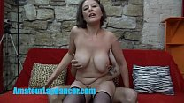 Busty czech MILF gives lapdance and handjob to ... Thumbnail