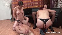 FFFM French babes hard analized and fist fucked...