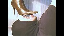 Licking clean my Wife's dirty boots 1