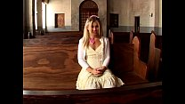 blonde teen in church porn image