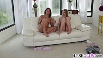 Lesbian babes talking about their shoot