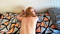 Redhead Girl Fingering and Hardcore Doggystyle Sex - Cum in Mouth صورة