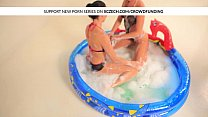 Two Czech Wet Vaginas Enjoying Their Clitorises In The Pool