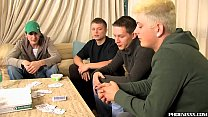 Hot married studs assfucking hard after poker game