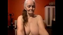 Grand mom shows off her nice big tits live porn image