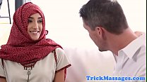 Forbidden arab babe facialized during massage Thumbnail