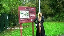 Homemade flashers footage of sexy milf Emma Louise toying in a park and upskirt Preview