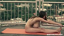 Naked Yoga By Busty Girl - download porn videos