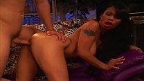 Exotic brunette  with fine tits swallows white  swallows white cock after getti