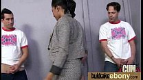 Ebony gets fucked in all holes by a group of white dudes 29