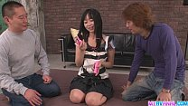 Hard Asian Ass Fucking In A Threesome With Nozomi