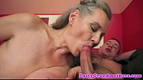 Image: Mature lady fucked after sucking cock