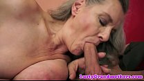 Mature lady fucked after sucking cock thumbnail