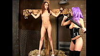 Hot girlfriends use rope, whip and candle in their lesbian games