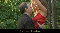Screenshot Lora restrai ned in the woods for being spanked ...