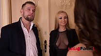 Super sexy XXX babes Alyssia Kent & Liya Silver share dude's big hard cock GP732 thumbnail