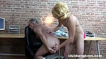 Undercover Twink Playing with an Old Guy's Ass Hole